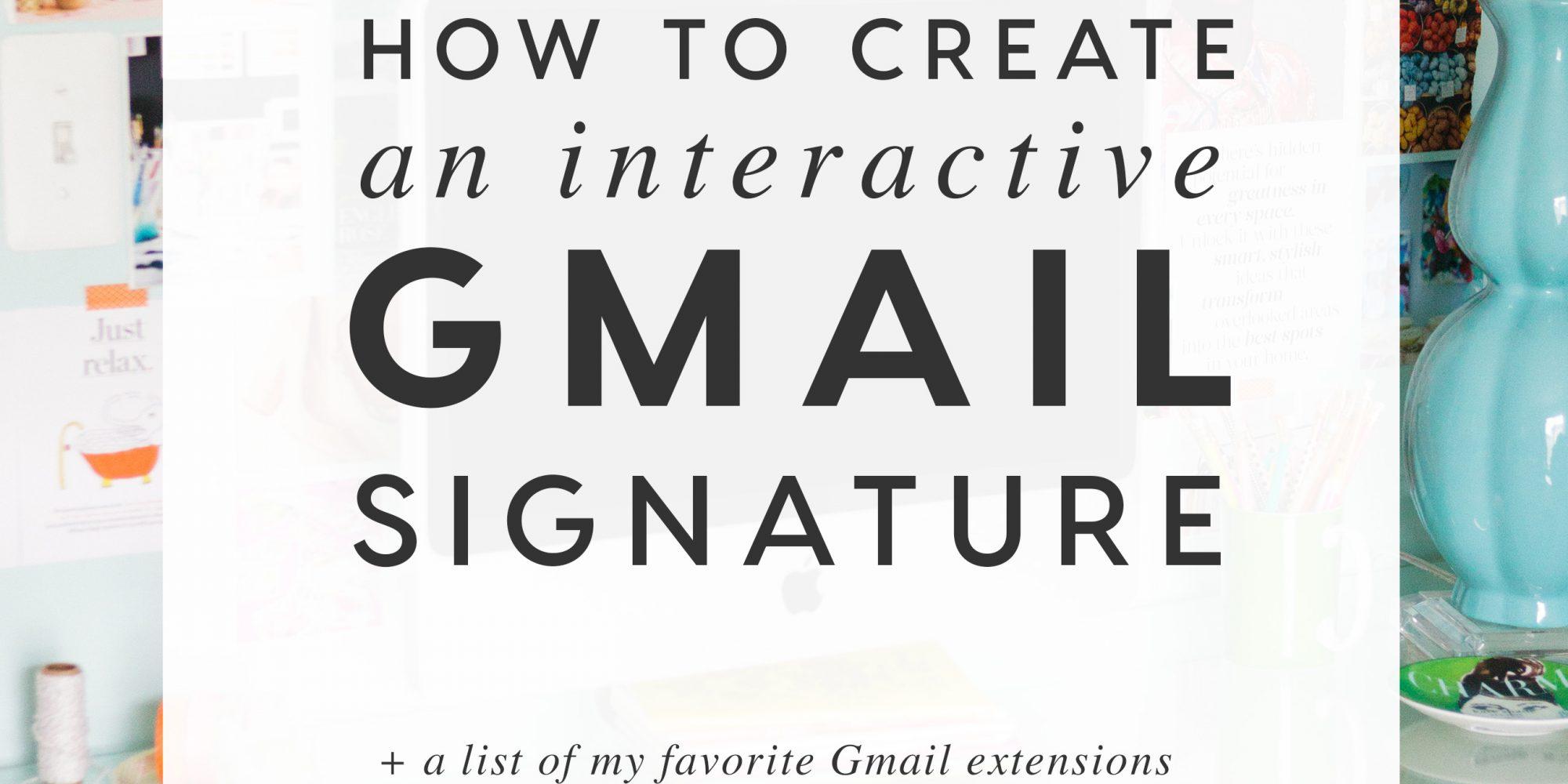 interactive gmail signature