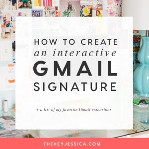 How to Create an Interactive Gmail Signature