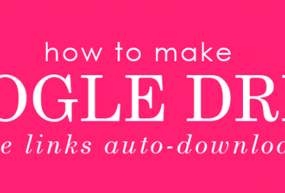Making a Google Drive File/Link Auto-Download
