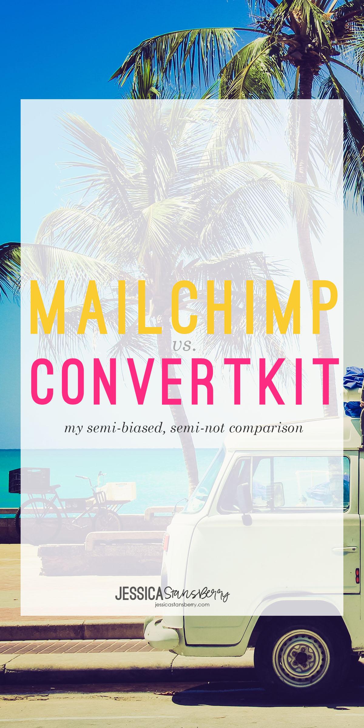 MailChimp vs ConvertKit | JessicaStansberry.com