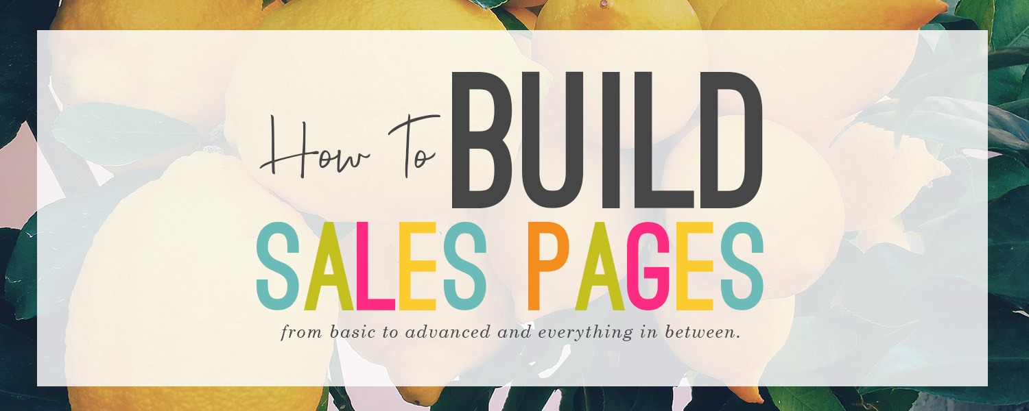 how to build a sales pages