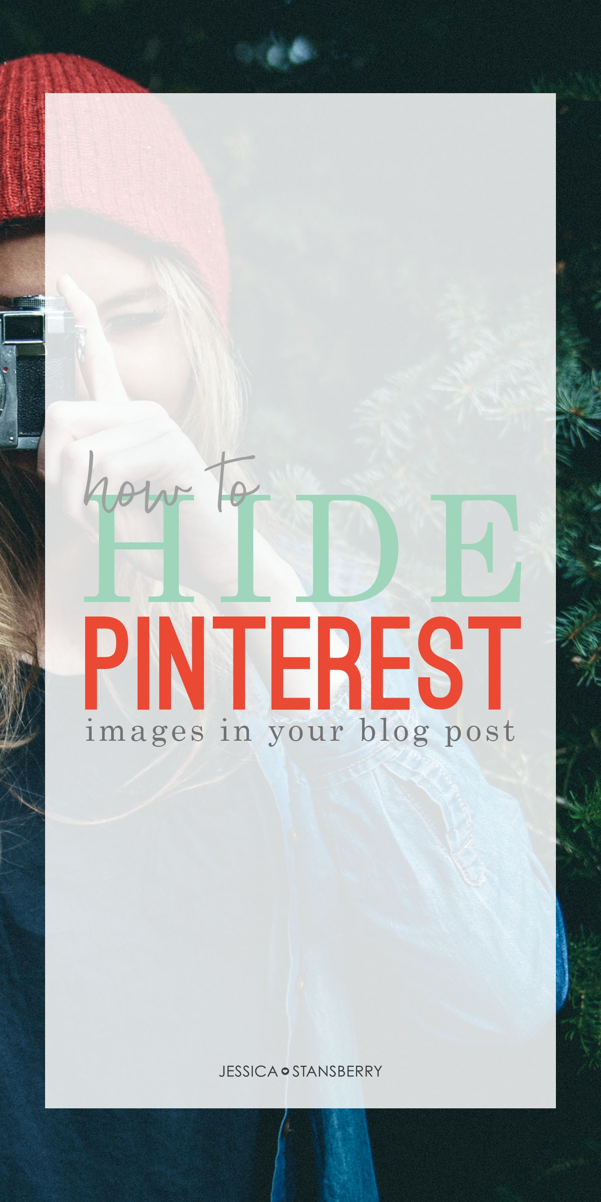 how to hide Pinterest images in blog posts