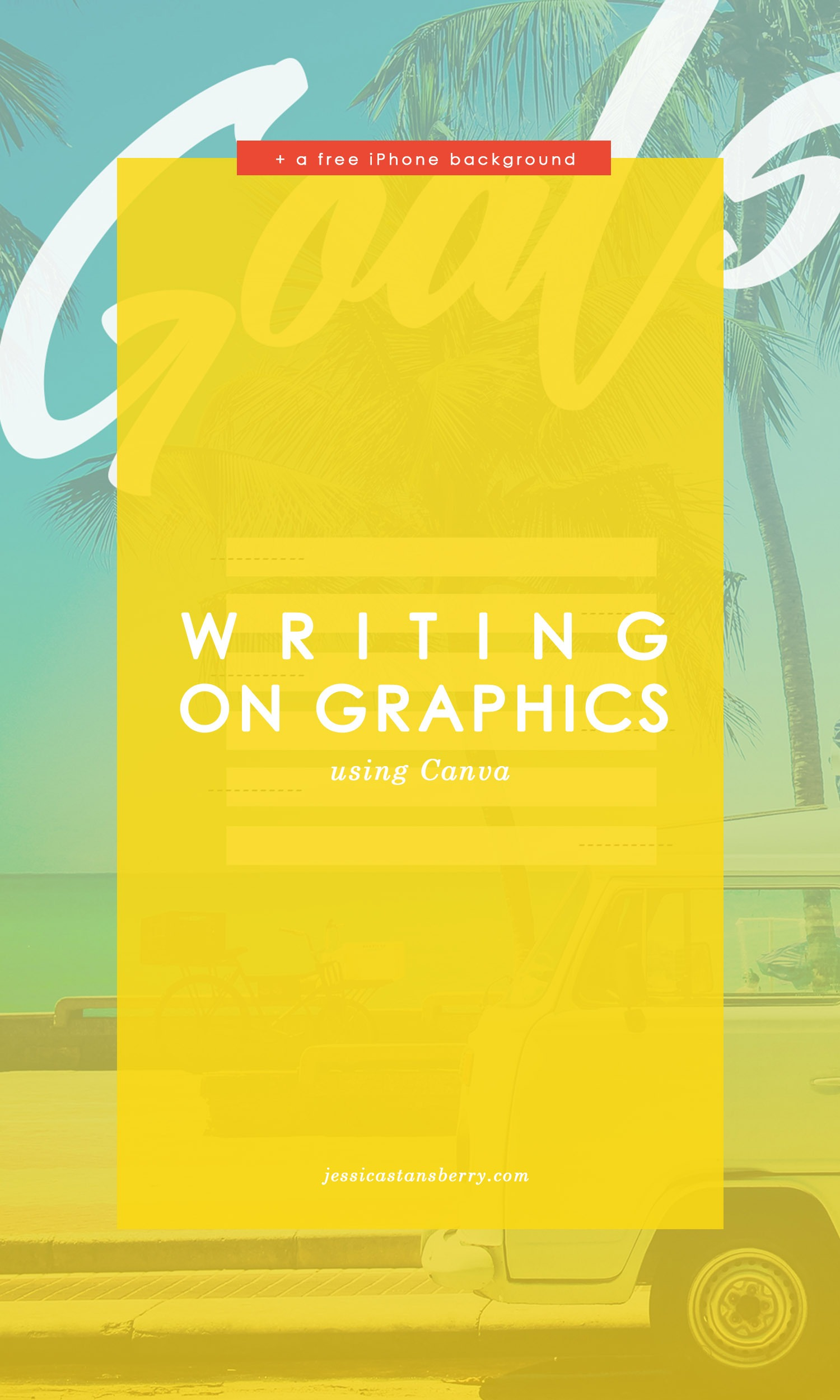free iPhone Background | writing on images in Canva