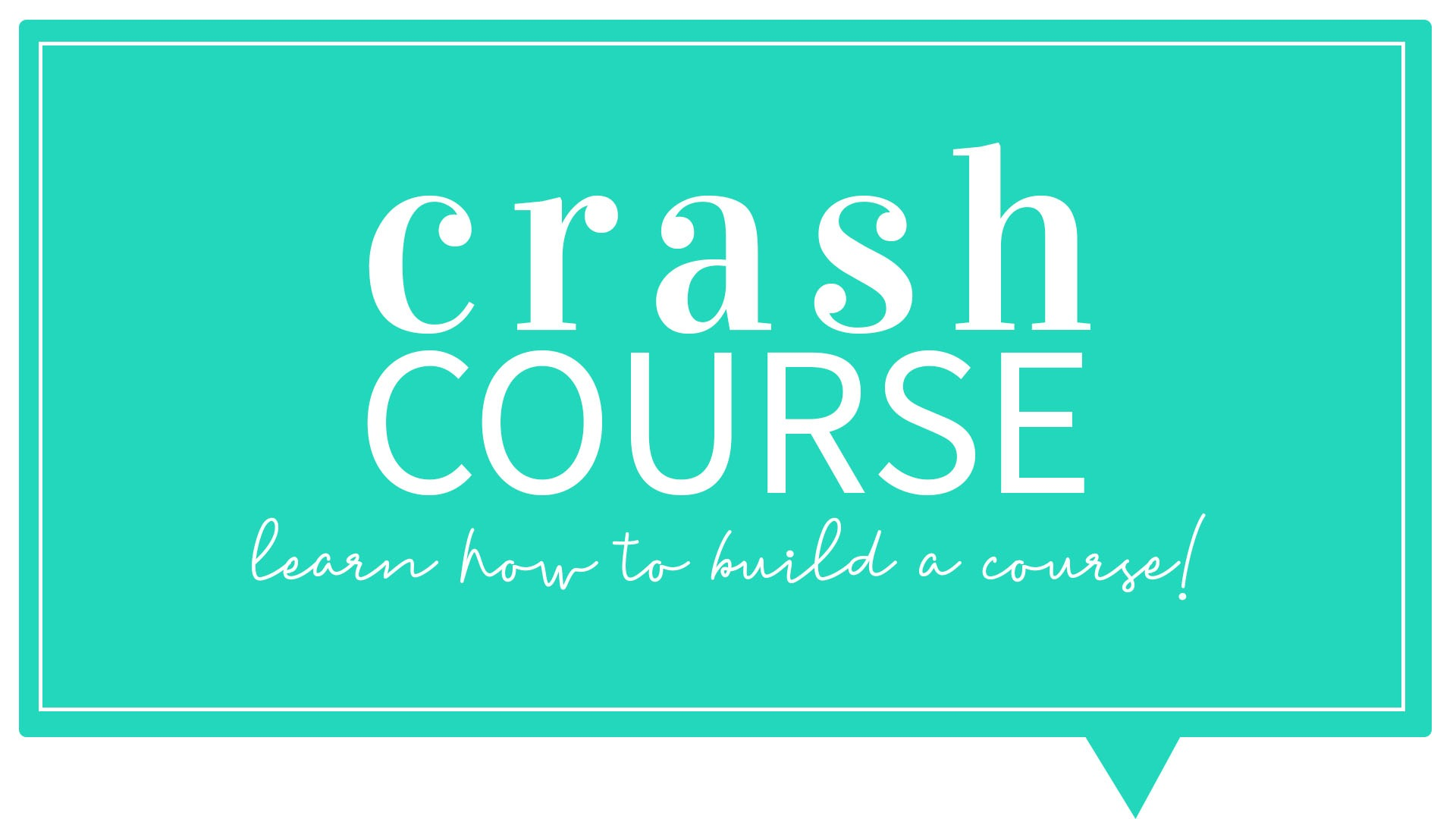 Learn how to create a course