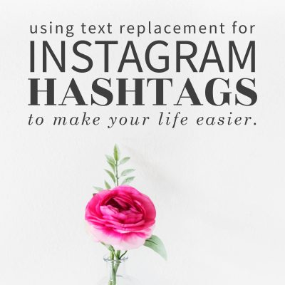 Using Text Replacement for Instagram Hashtags | iPhone