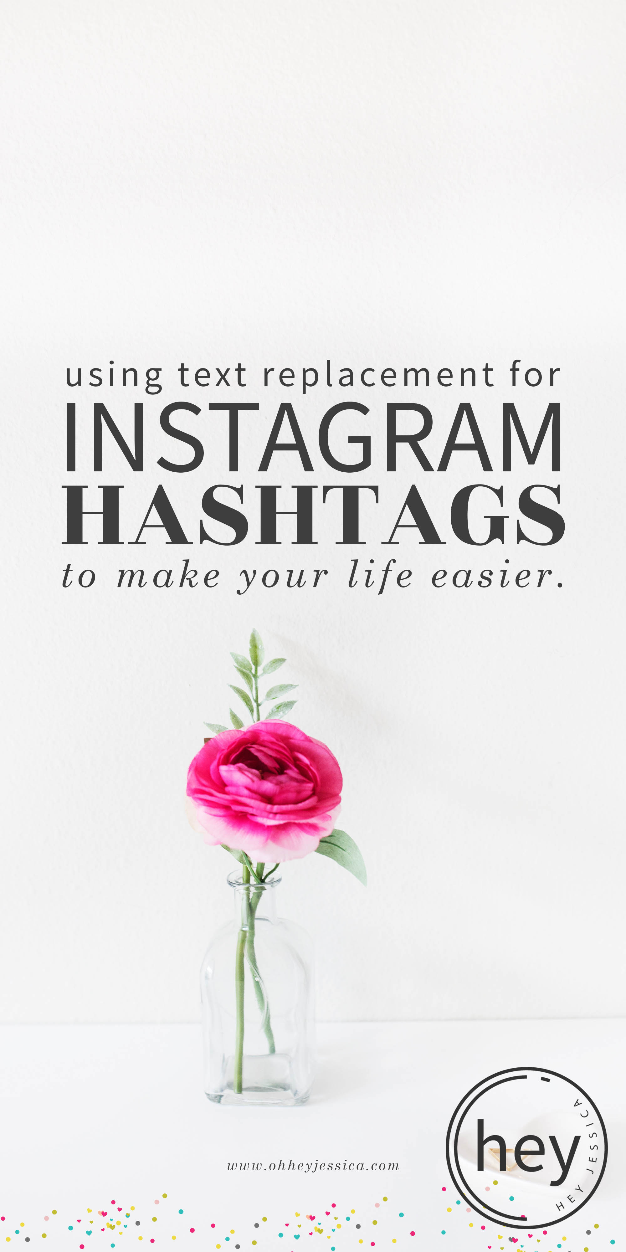 text replacement Instagram Hashtags
