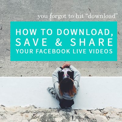 How to Download Your Facebook Live Videos