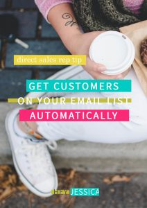 Automatically getting direct sales customers onto your email list