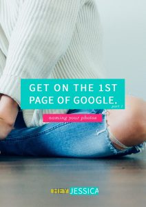 Get on the First Page of Google    Naming Photos for SEO