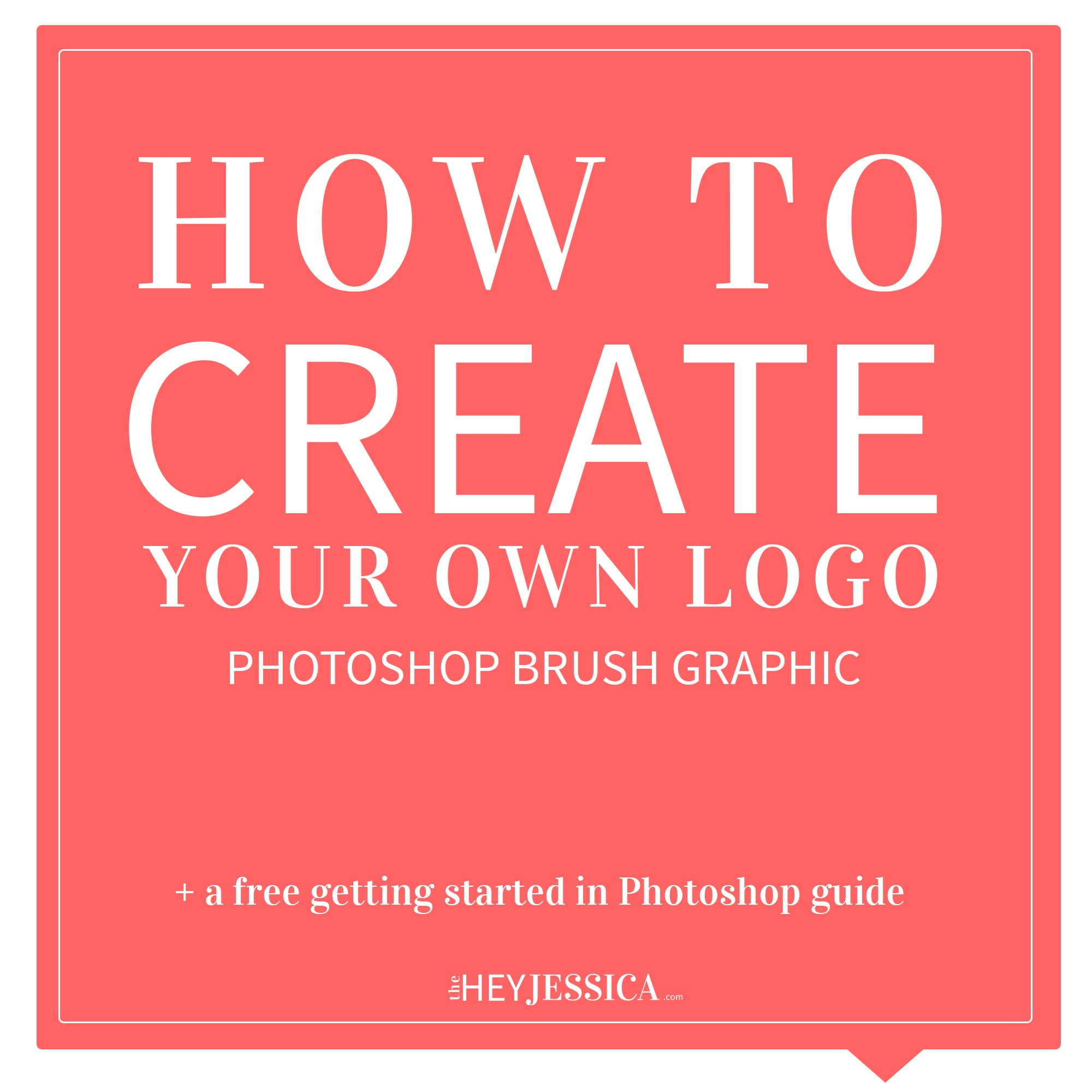 How to create a photoshop brush hey jessica for Draw my own logo