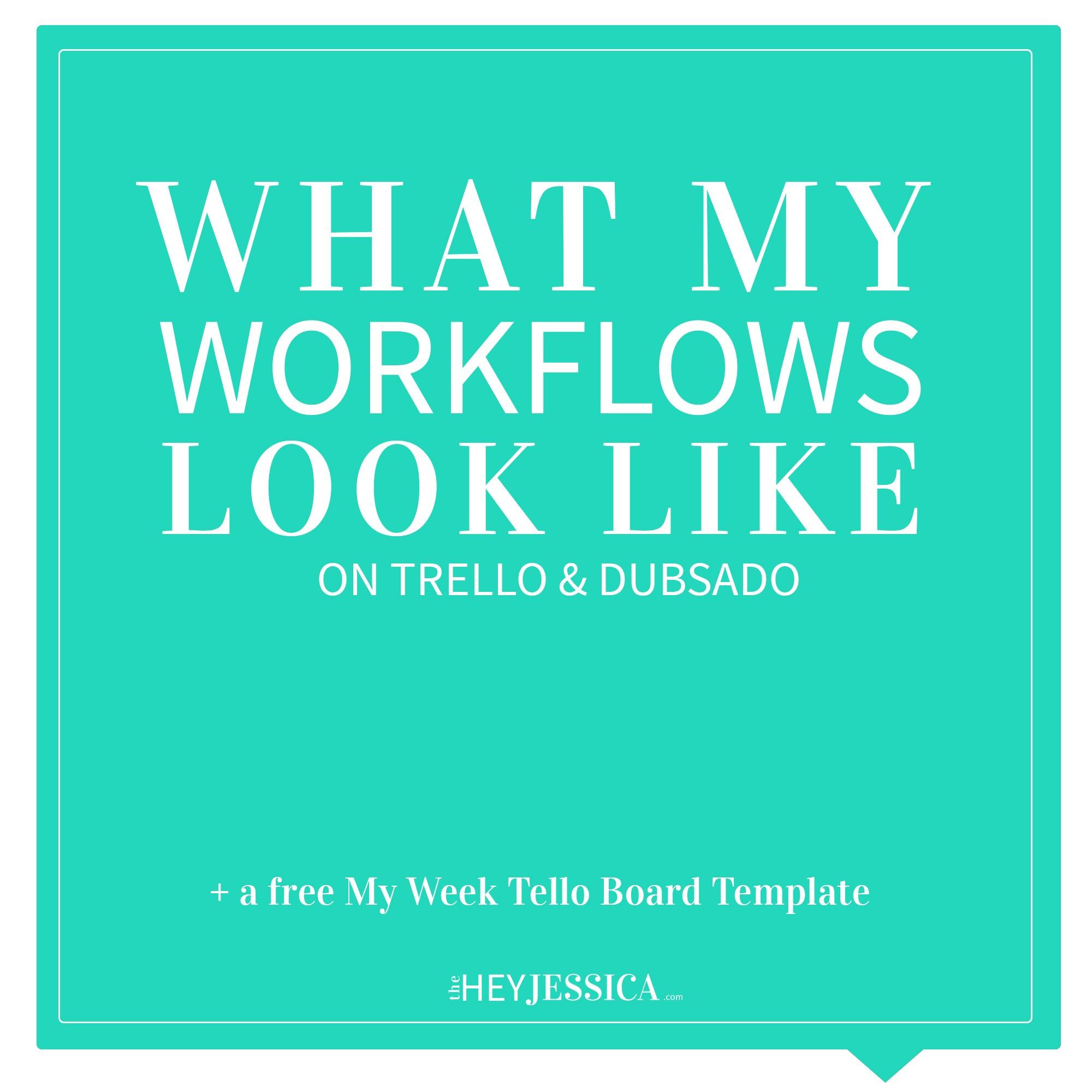 What My Workflows Looks Like | Trello & Dubsado