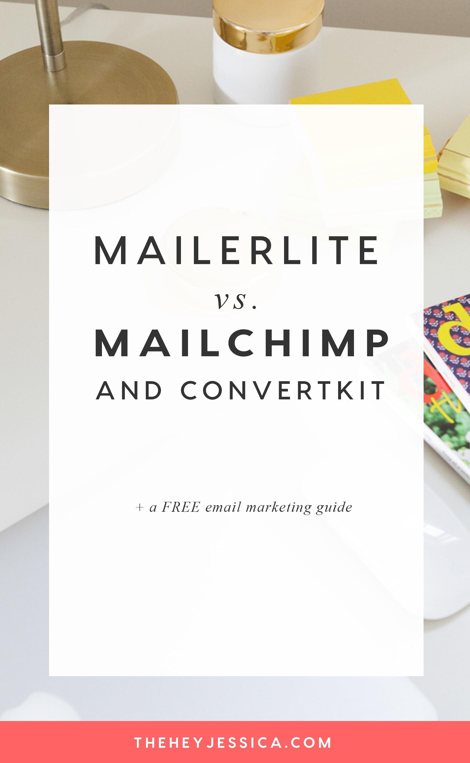 Mailerlite vs. Mailchimp & Convertkit