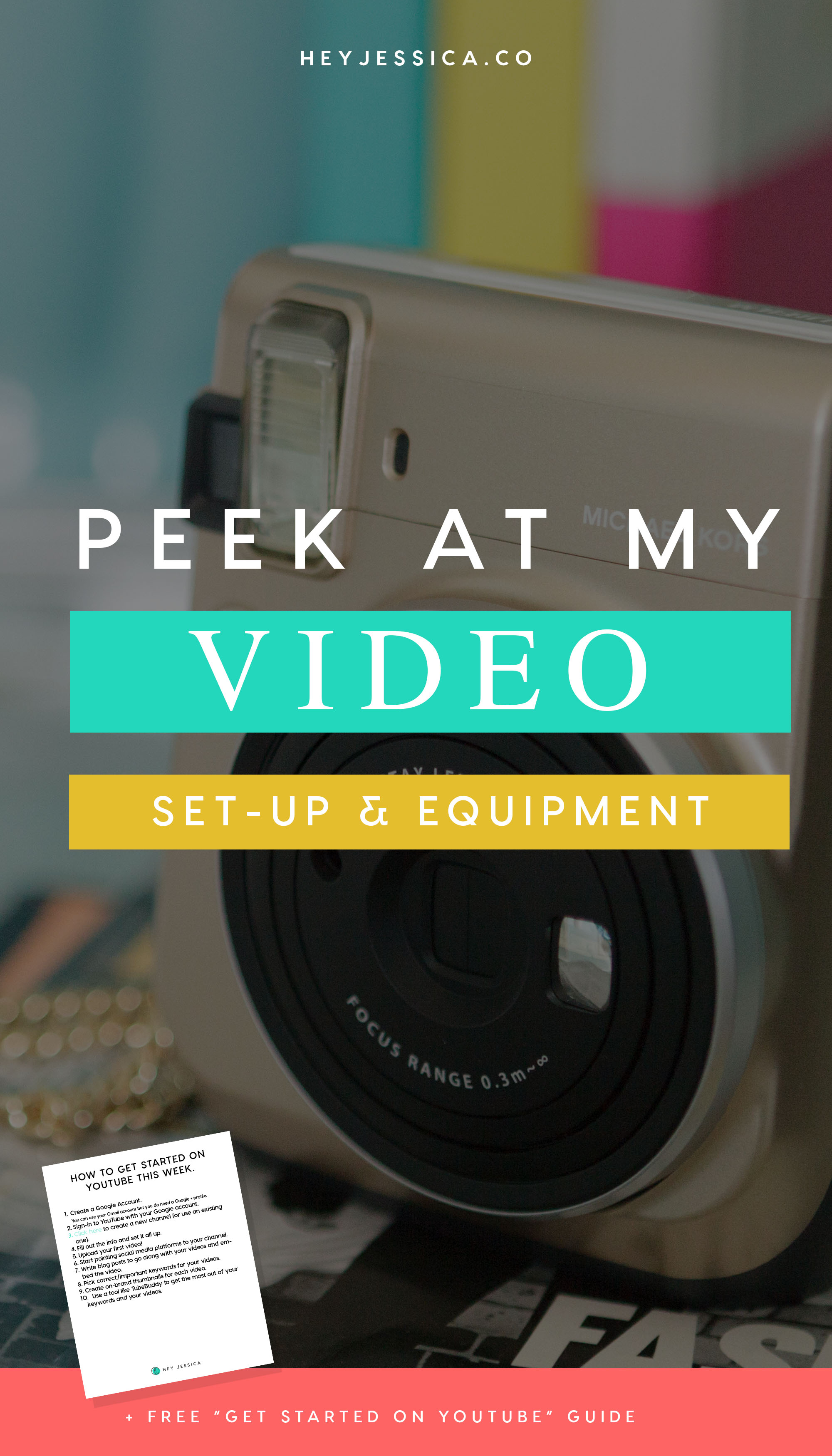 My video set up for YouTube and Blogging