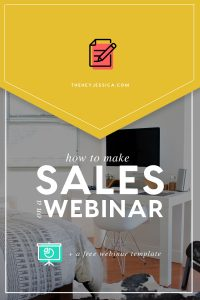 How to Make SALES on a Webinar