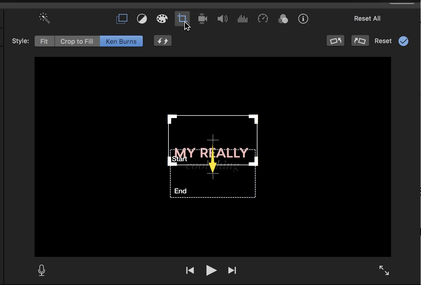 how to add text to iMovie