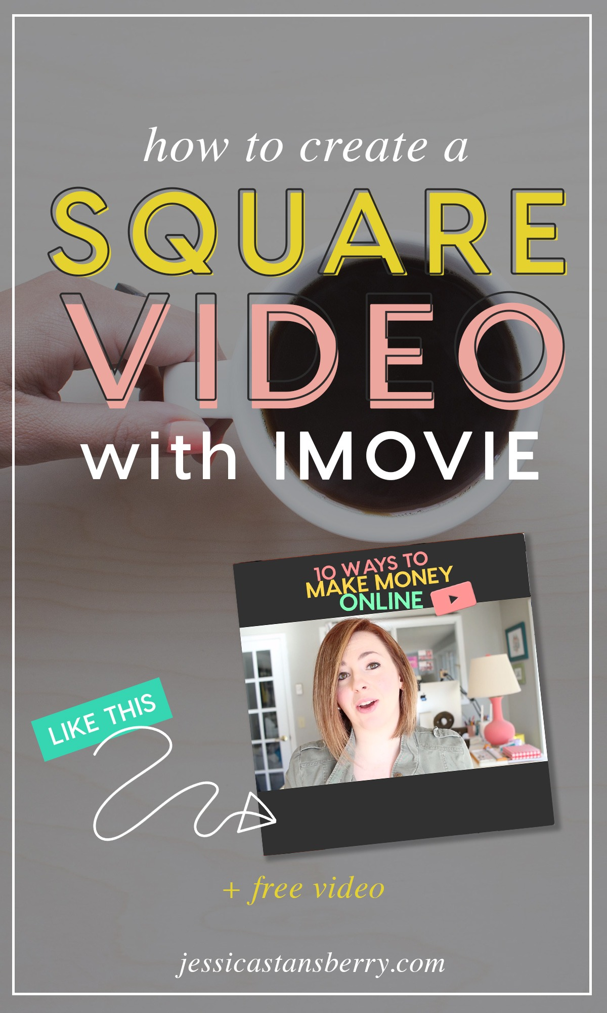 how to make square video imovie