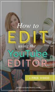 Editing in YouTube